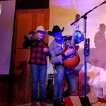 On stage jamming with the triple c cowboys- they do an amazing job involving the kids!