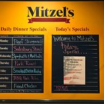 Daily dinner specials and today's special