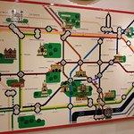 carte du métro londonien en légo