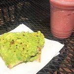 Avocado toast and Tropics smoothie