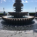 It was beautiful by the fountain. There's a waterfront view as well as plenty of shade with the