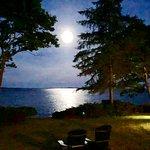 Moonrise over Penobscot Bay at the Inn
