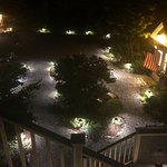 Gardens at night at the Inn