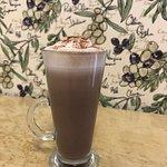 Hot Chocolate with a dash of Monin Hazelnut syrup