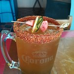 "Our Tamarind ""michelada"" is a drink based on spices, habanero chili and tamarind pulp."