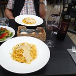 Salad and pasta - uncomplicated evening dishes