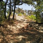 Hiking Paryongsan Mountain: rocky surface