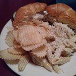 Chicken salad croissant. Delicious.