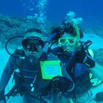 We dove with Rota Rubin Dive Center on our 34th wedding anniversary