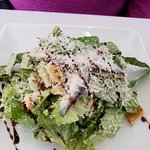 Caesar salad - note whole anchovies