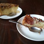 Pear almond pie and walnut rum cake: delicious!