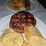 Bifteki and pork sovlaki