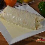 California Burrito: 12-inch flour tortilla stuffed with thin-slice grilled chicken, rice