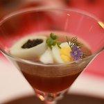 consommé de langoustine en gelée avec caviar