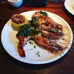 Wood Fired Florida Prawns