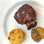 Veal fillet with potato and mustard