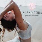 Yoga teacher Lisa enjoying the Yoga practice at the beach