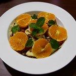 fruit salad with mandarine