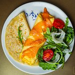 omelette with salmon - 4,3 €
