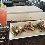 Pork Belly tacos and Rum Punch