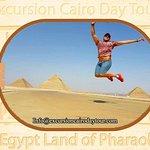 jumb up high at giza pyramids