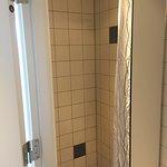 shared bathroom push button shower