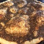 Zataar flatbread straight from the oven