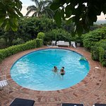 Family time in Villa 28's private pool