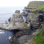 The cliff nest to the lighthouse where you can see the puffins.