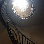 The 4-story spiral staircase