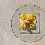 Scallop Ravioli / shrimps / pernod sauce