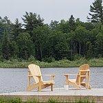 Relaxing at Rock pine motel, Marten river