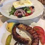 lovely salad and tender octopus