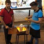 Preparing the clay pot kebab