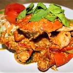 Black Crab in curry powder sauce