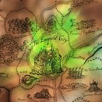 Emerald City on Map of OZ