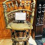 bronze judgement chair