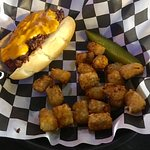 Small Town's Chili Cheese Dog and Tater Totes