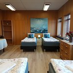 Quadruple room with shared bathroom and private kitchenette