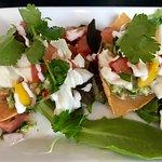 Halibut ceviche tacos