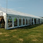 Inside the marquee at the Stour Music Festival 2018.