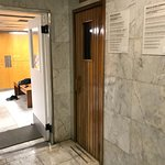 Gym's expertly designed locker room with dry sauna; InterContinental Hotel Buenos Aires