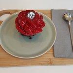 Gâteau aux fruits rouges.