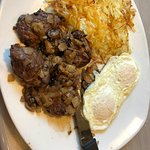 Steak medallions and eggs with hash browns-amazing!