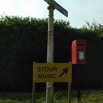 Sign to the church and Stour Music Festival.