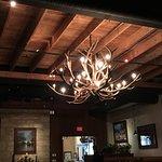 Chandeliers in restaurant
