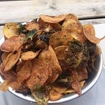 Potato Chip Medley (includes fried brussel sprouts) YUM!