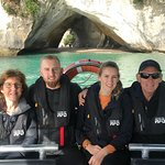 """Cathedral Cove while on """"The Full Monty"""" Sea Leopard tour. 17 June 208."""