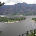 Panoramic View Of The Columbia River Gorge