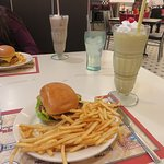 Double burger w/ classic banana shake...mmmmm!!!